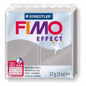 Fimo Effect nr. 817 parelmoer zilver