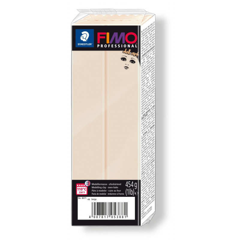 Fimo professional doll art. color 44 beige semi opaque 454gr.