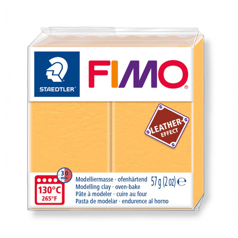 Fimo leather-effect 57 gjaune safran