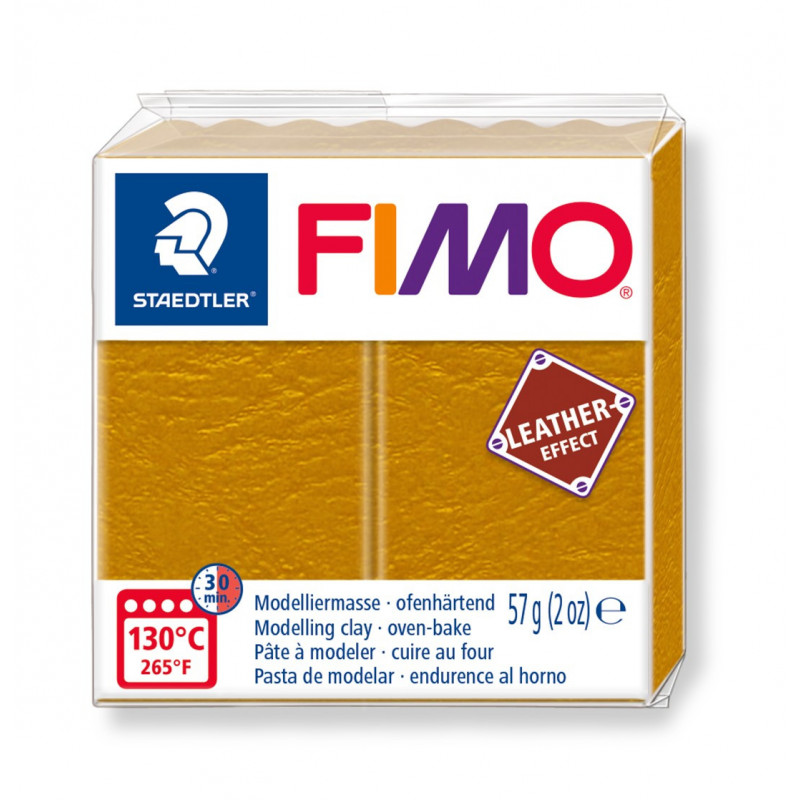 Fimo leather-effect 57 g ocre nr. 179