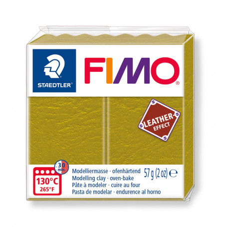Fimo leather-effect 57 g olijf nr. 519