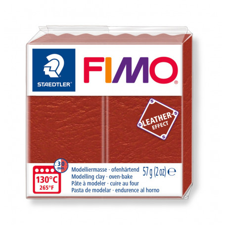 Fimo leather-effect 57 g roest nr. 749