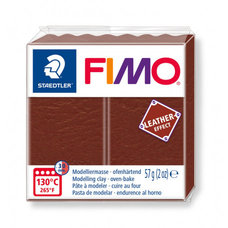 Fimo leather-effect 57 g noot nr. 779