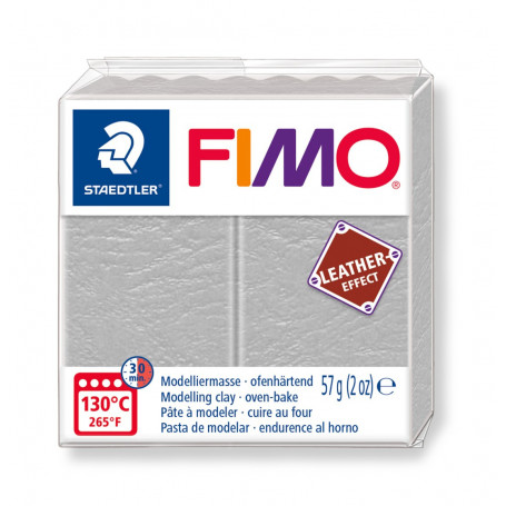 Fimo leather-effect 57 g gris pigeon nr. 809