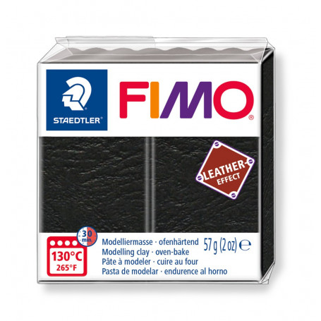 Fimo leather-effect 57 g blackt nr. 909