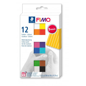 FIMO soft material pack with 12 half blocks Basic
