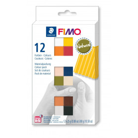 FIMO soft material pack with 12 half blocks Natural