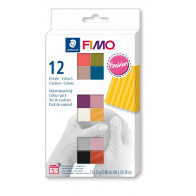 FIMO soft material pack with 12 half blocks Fashion
