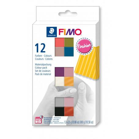 FIMO soft set met 12 halve blokken Fashion