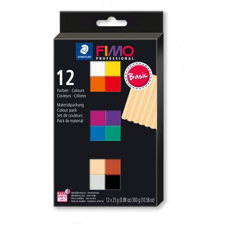 Fimo Professional colour pack 12 basic colours