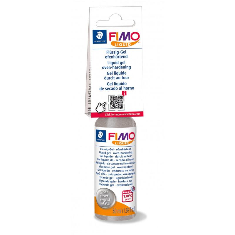 Fimo Deco Gel - Fimo Liquid - Zilver - 50 ml