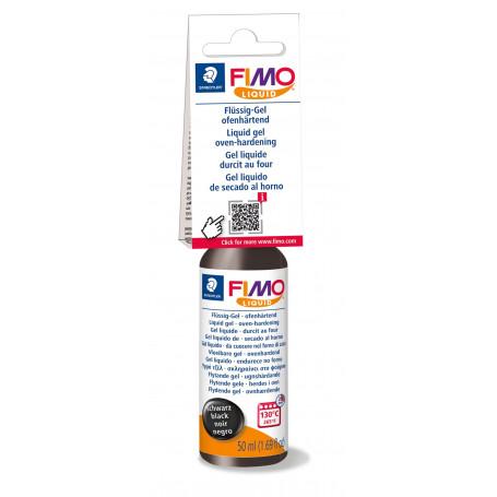 Fimo Deco Gel - Fimo Liquid - Zwart - 50 ml