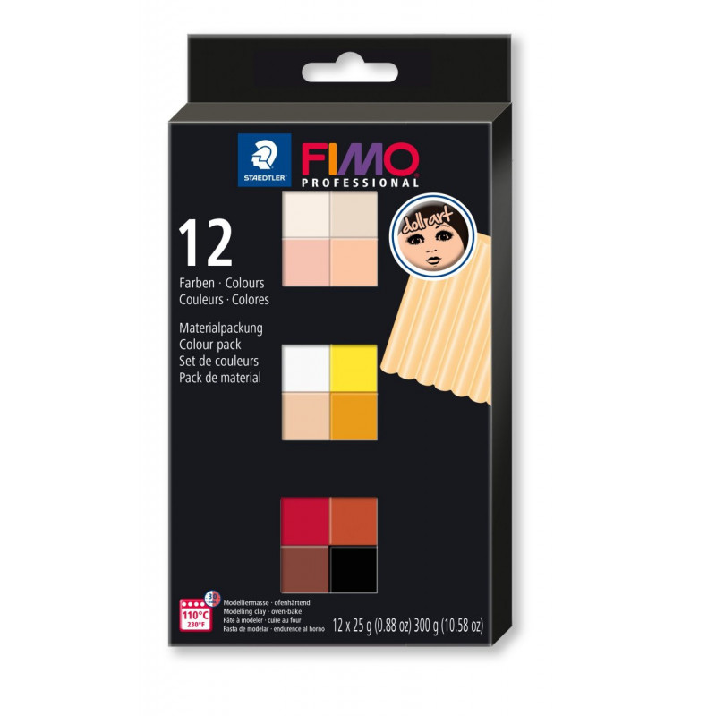 Fimo Professional Doll art colour pack 12