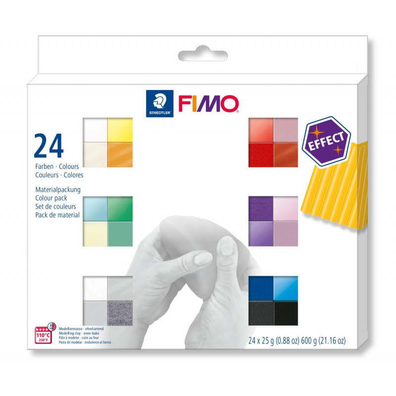 Fimo Effect set - colour pack 24 effect colours