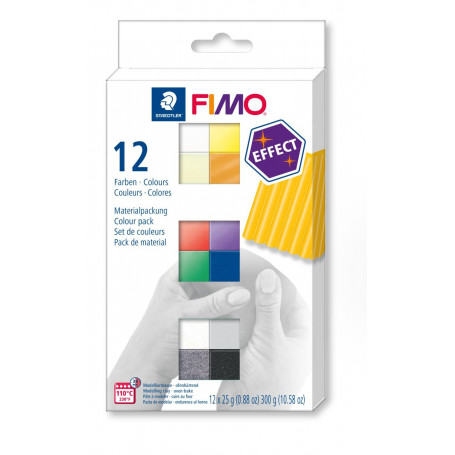 FIMO effect material pack with 12 half blocks Effect