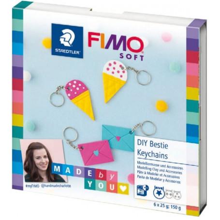 Fimo DIY set Schlüsselanhänger Set
