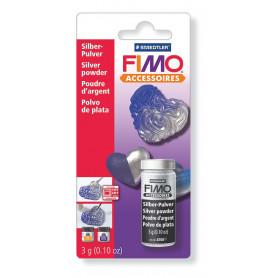 Fimo Metallic poeder - zilver