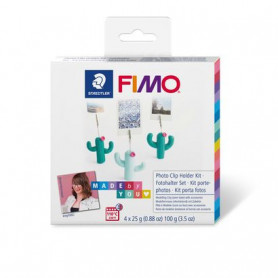 Fimo DIY Cacti photo clip holders