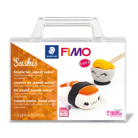 Fimo Soft Set - Kawaii Sushis