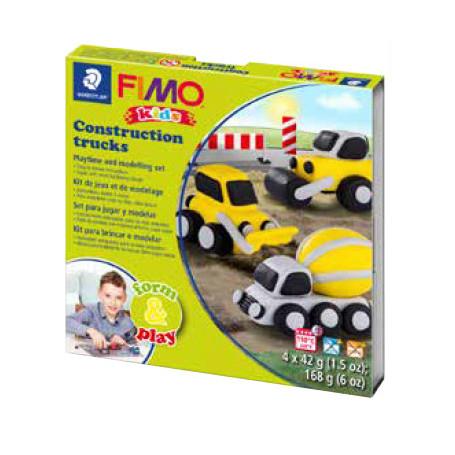 Fimo Kids startset Construction Trucks
