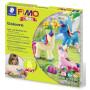 Fimo Kids Snow Unicorn Form and Play Set