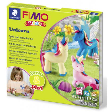 Fimo Kids Einhorn Form and Play Set