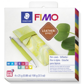 Fimo Leather DIY Pennen etui