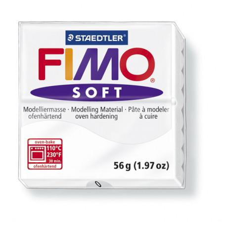 Fimo soft nr.0 wit