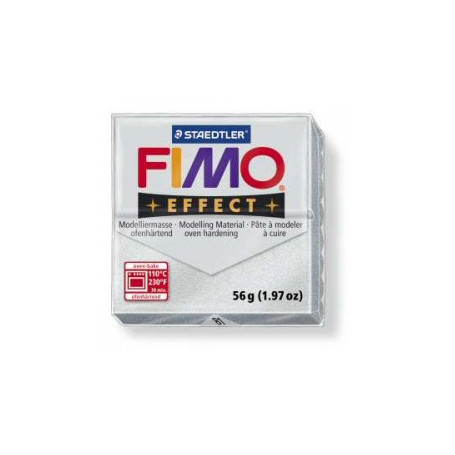 Fimo Effect nr. 81 metallic Zilver