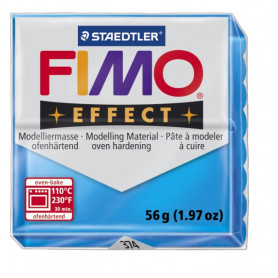 Fimo Effect nr. 374 transparant blauw