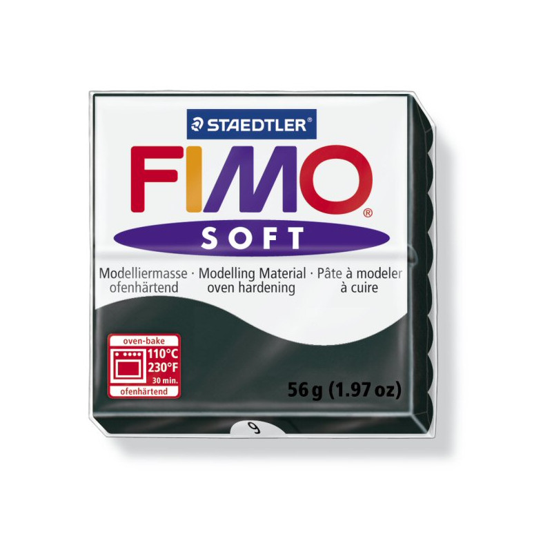 Fimo soft nr 9 Zwart