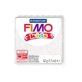 Fimo Kids nr. 052 glitter wit