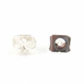 Oorbel stopper zilver kleur 20 stuks