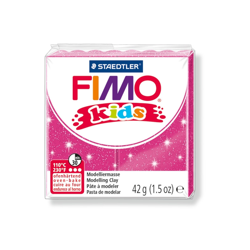 Fimo Kids nr. 262 glitter pink