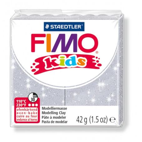 Fimo Kids nr. 812 glitter zilver