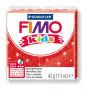 Fimo Kids nr. 212 Glitter Rood