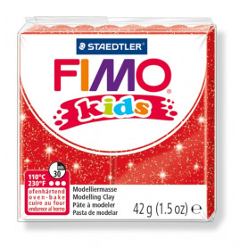 Fimo Kids nr. 212 red glittering