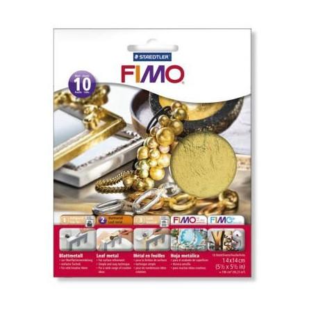 Fimo bladmetaal goud