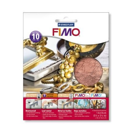 Fimo Leaf metal copper