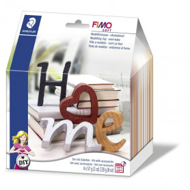 "Fimo soft Deco set ""Letters"""