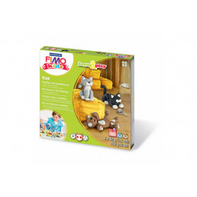 Fimo Kids Cat Form and Play Set