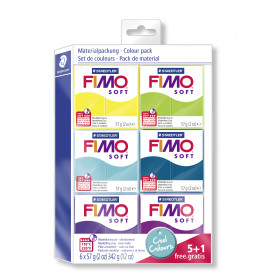 Fimo soft Kleurenset Cool Colours 5 + 1 gratis